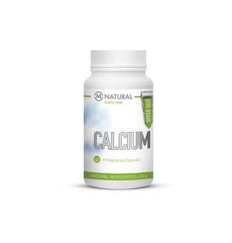 M-NATURAL Calcium 125 mg, 60 kaps.